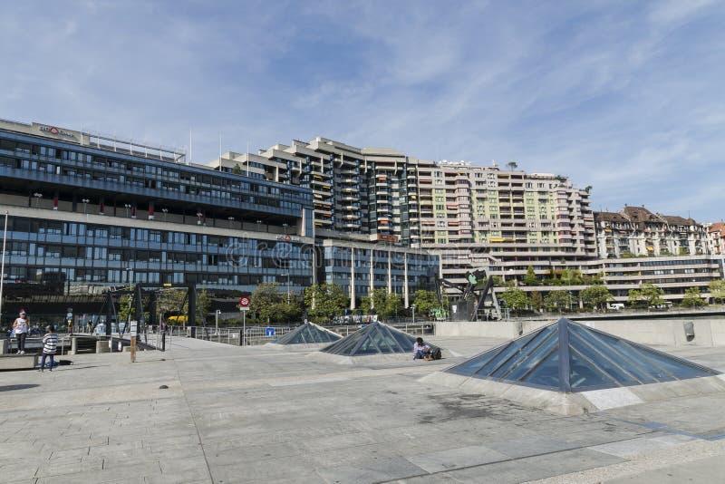 Street in Geneva stock photo