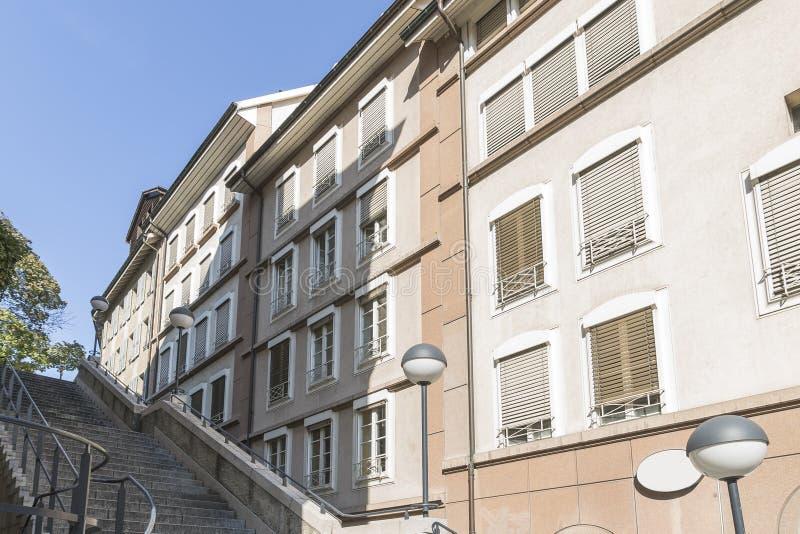 Street in Geneva royalty free stock photography