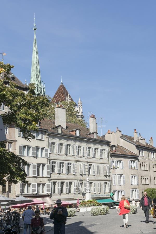 Street in Geneva royalty free stock image