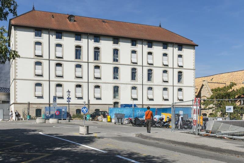 Street in Geneva stock image
