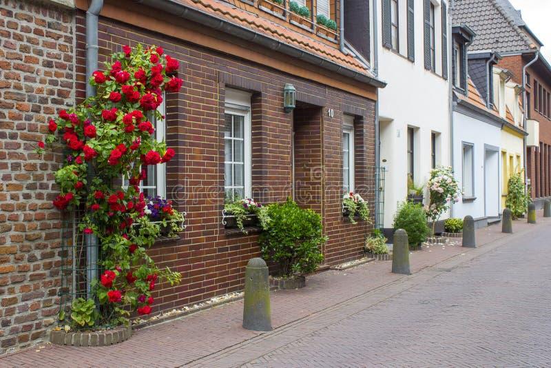 Street in German small town, Geldern, North-Rhine Westphalia. Germany stock photos