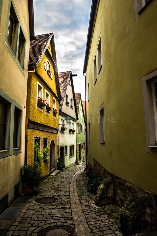 Street of Germany. Popular Colorful houses in Rottenburg, Germany royalty free stock photography