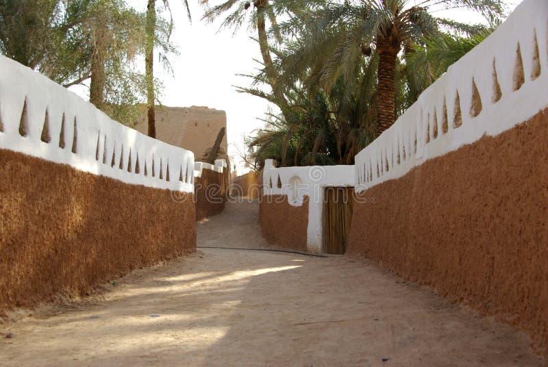 Street in Ghadames, Libya stock photo