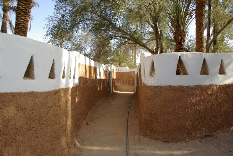 Street in Ghadames, Libya royalty free stock image