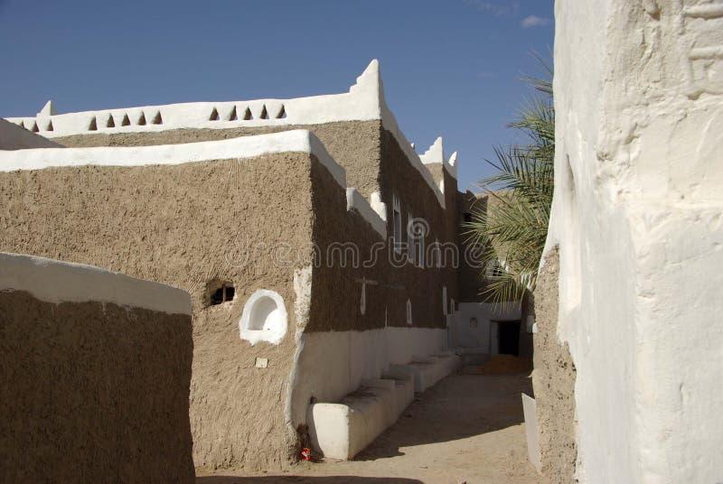 Street in Ghadames, Libya stock image