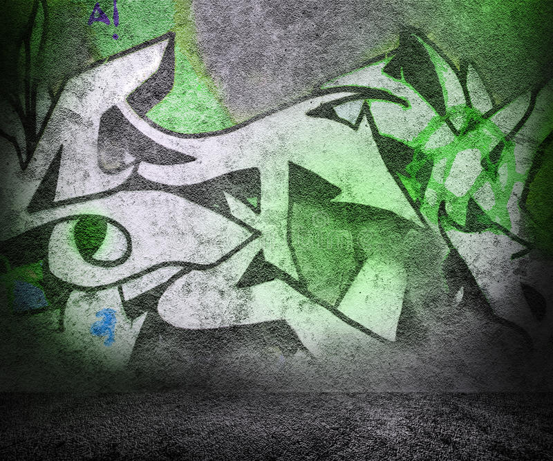 Street Green Urban Background vector illustration