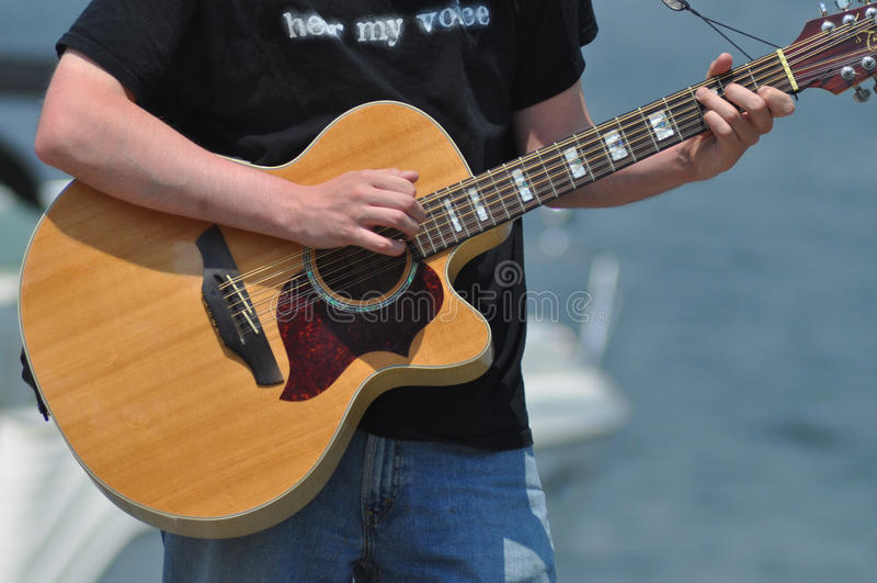 Street Guitar Player Royalty Free Stock Photo