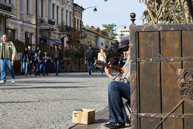 Street guitar player royalty free stock image