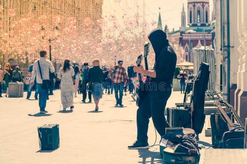 Street Guitar Rock stock image