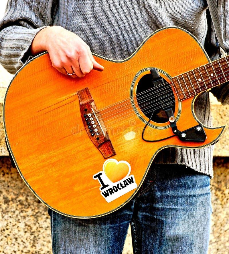 Street Guitarist Royalty Free Stock Photo
