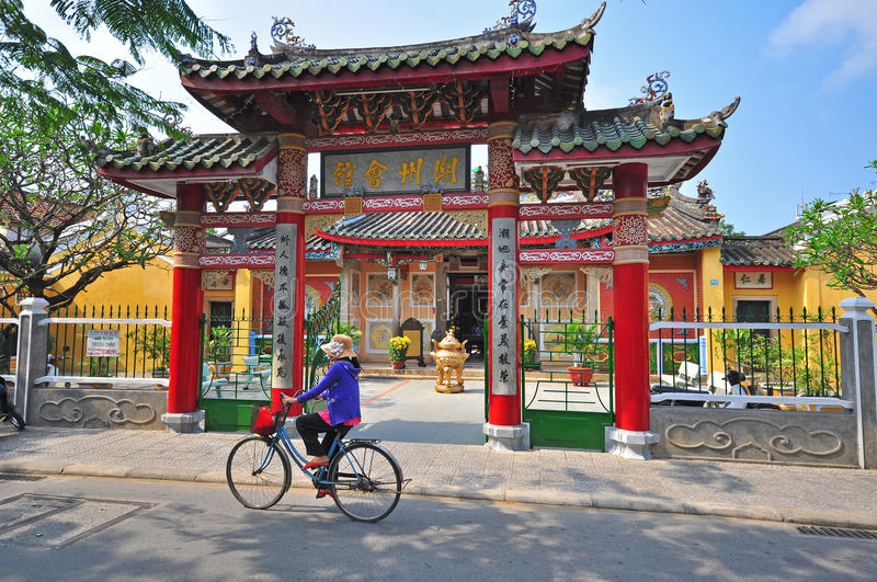 On the street of Hoi An, Vietnam royalty free stock photo