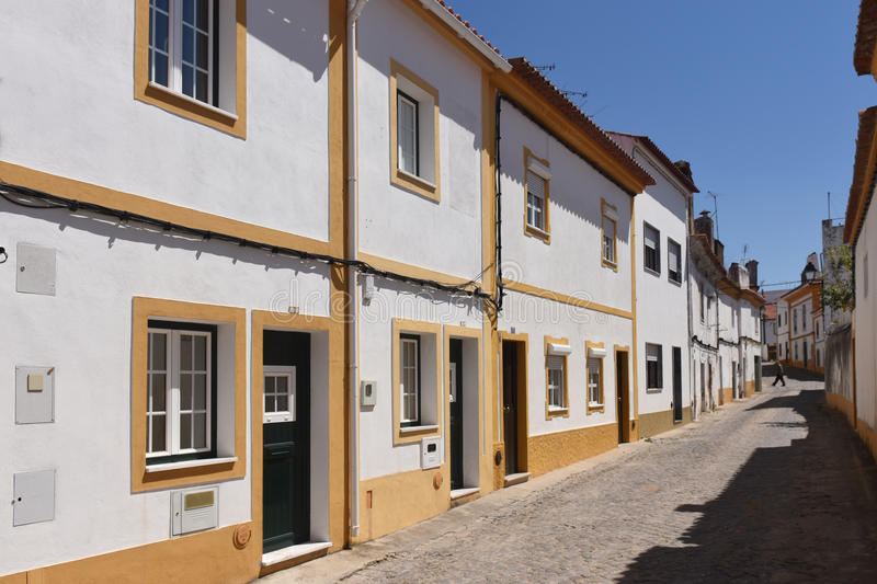 Street and houses, Alter Do Chao, Beiras region,. Portugal royalty free stock image