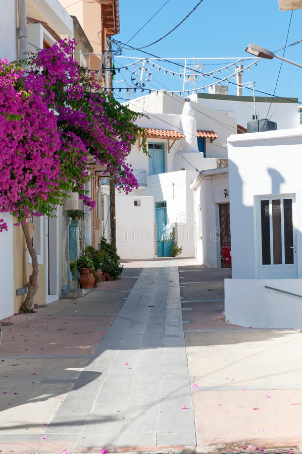 Download Street, Houses And Flowers Stock Photo - Image: 39431636