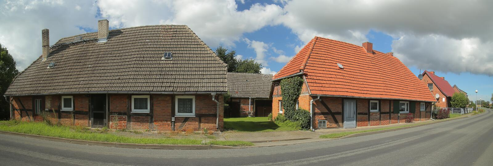 Download Street With Houses, Listed As Monuments, In Willerswalde, Germany Stock Image - Image of panorama, mecklenburg: 103797665