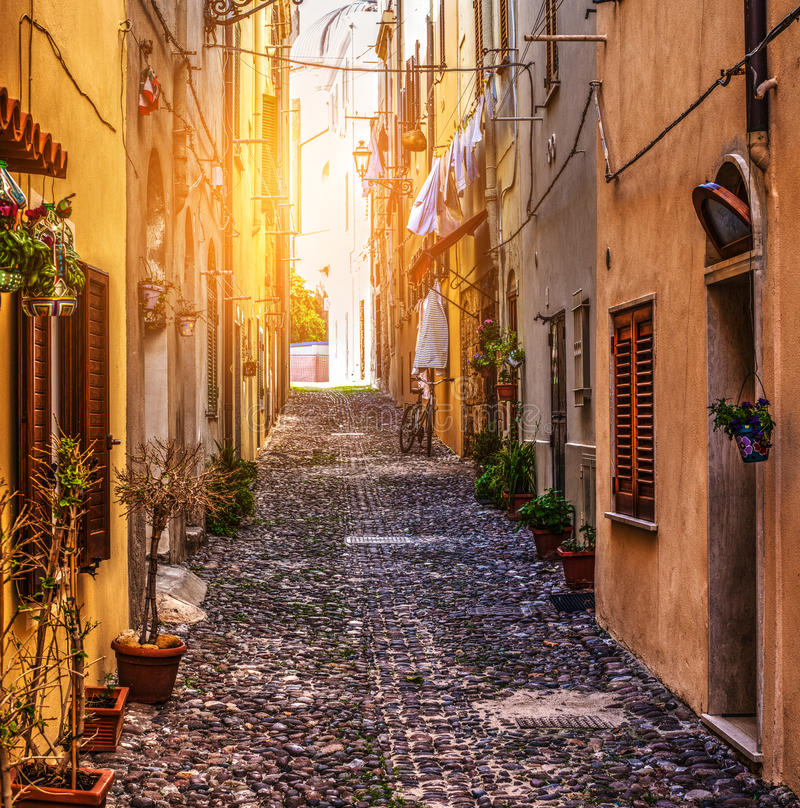 Free Street In Alghero Old Town Royalty Free Stock Images - 78249399