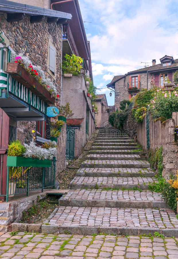 Free Street In Yvoire Stock Photos - 48723743
