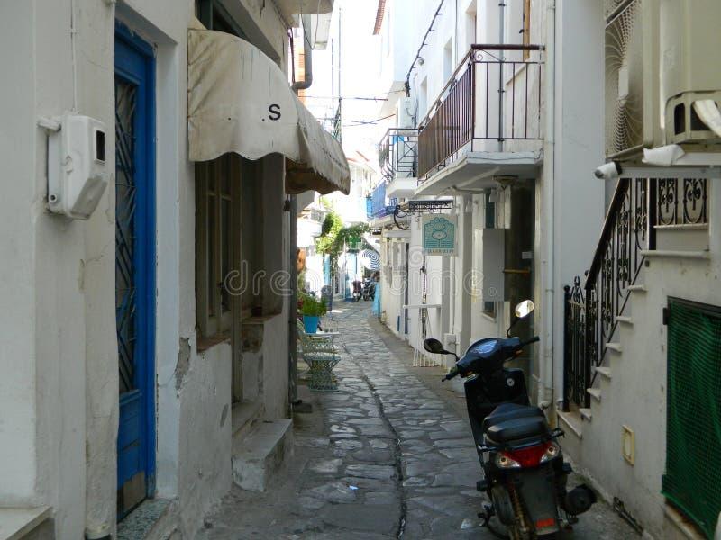 Street on the island royalty free stock photo