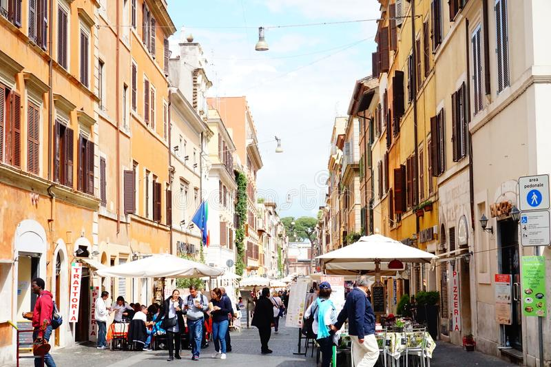 Street between Italy and Vatican boarder royalty free stock photos