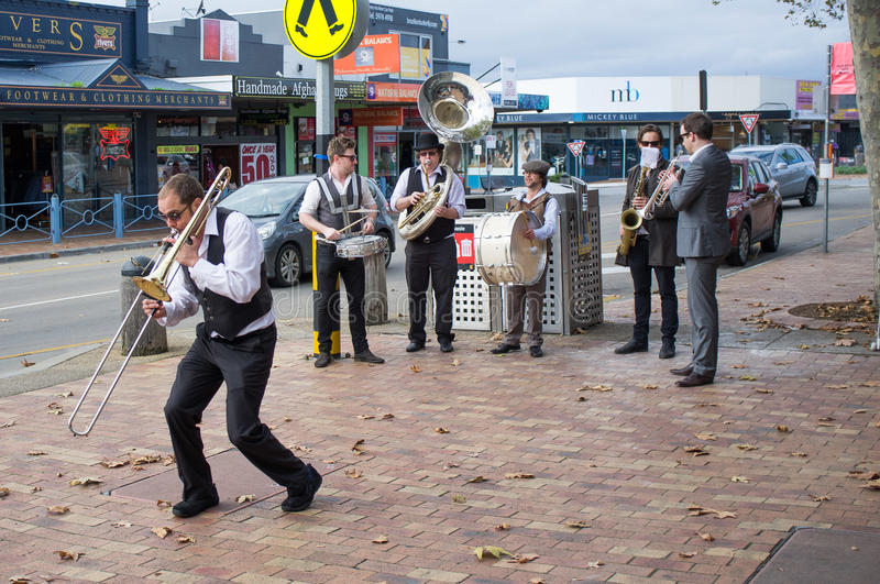 Download Street Jazz Band Performing On Mornington Streets Editorial Image - Image of rock, movement: 41506055