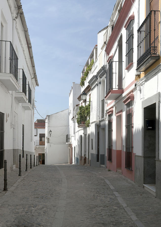 Street Of Jerez De Los Caballeros Stock Photo Image
