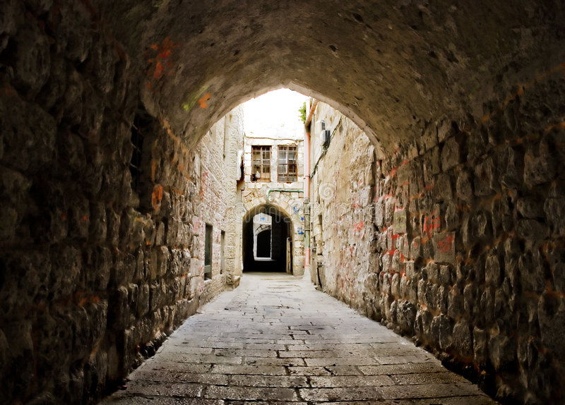 Download Street of Jerusalem stock photo. Image of holy, fortress - 4866292