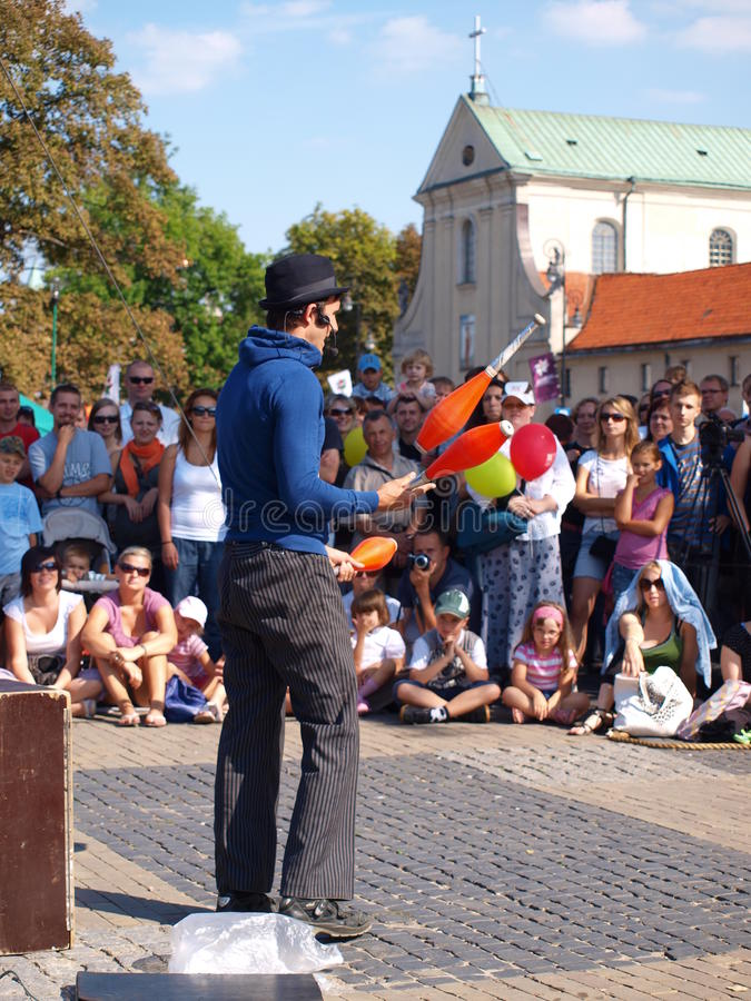 Street juggler, Lublin, Poland