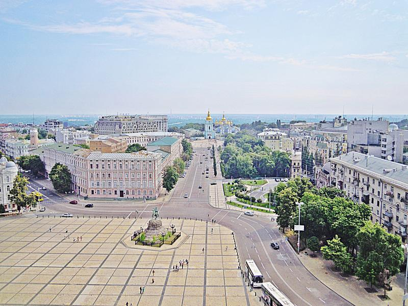 Street in Kiev (Ukraine) royalty free stock photos
