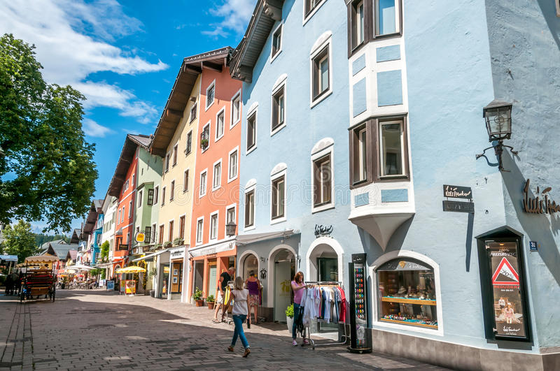 Download In The Street of Kitzbuhel editorial stock image. Image of city - 34238304