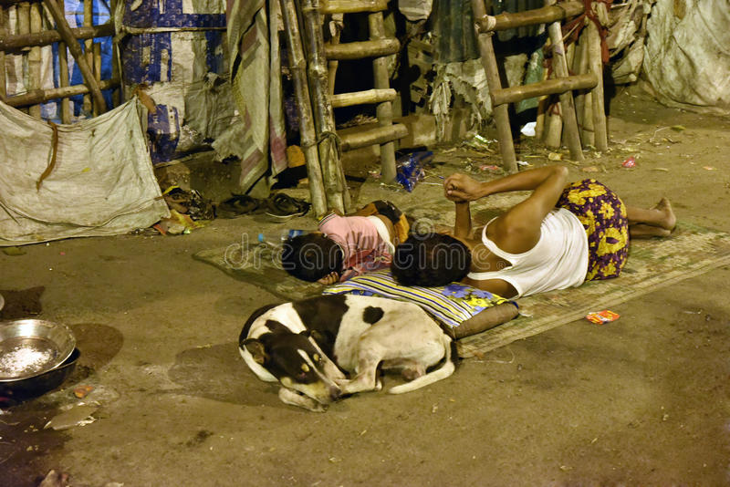 Street Of Kolkata. Streets of Kolkata. People live and work on the streets royalty free stock image