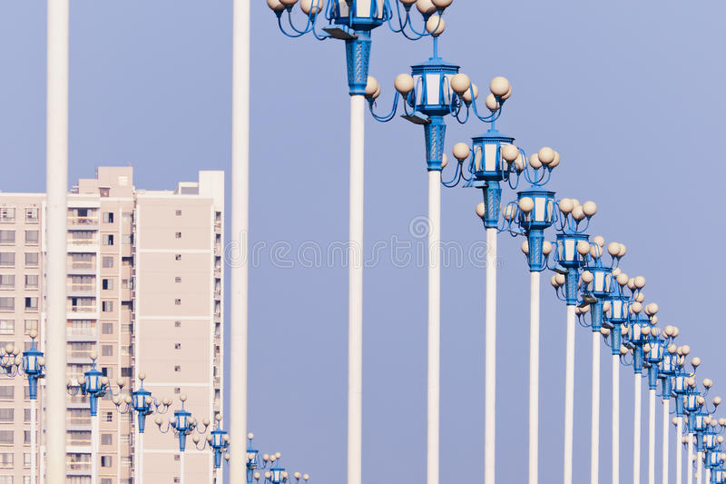 Download Street lamp stock photo. Image of perspective, blue, post - 23219152