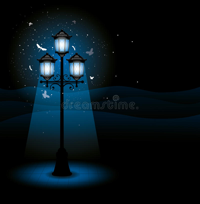 Free Street Lamp At Night Royalty Free Stock Photography - 20442287