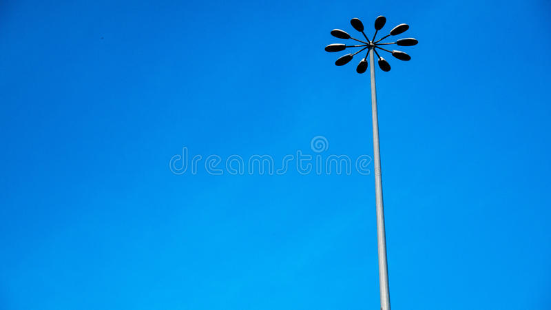 Street lamp and blue sky stock image