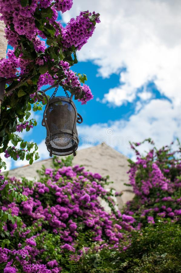 Street lamp, Croatia stock photography