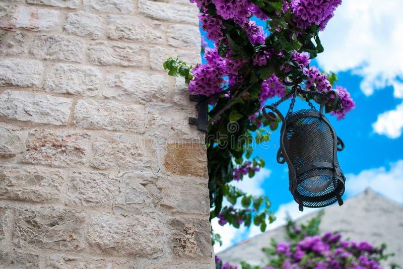 Street lamp, Croatia royalty free stock photo