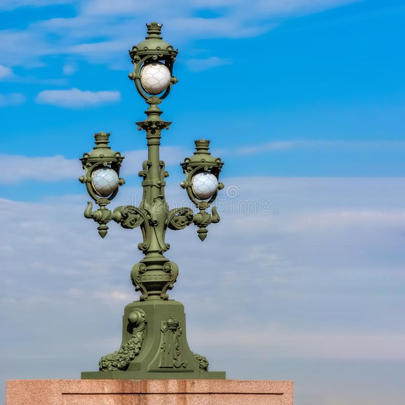 Street lamp against the sky stock photography