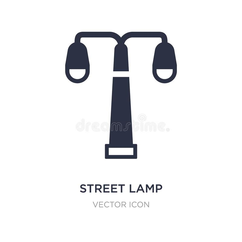 street lamp icon on white background. Simple element illustration from City elements concept stock illustration