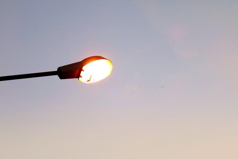 Street lamp, Street light on evening night background stock images