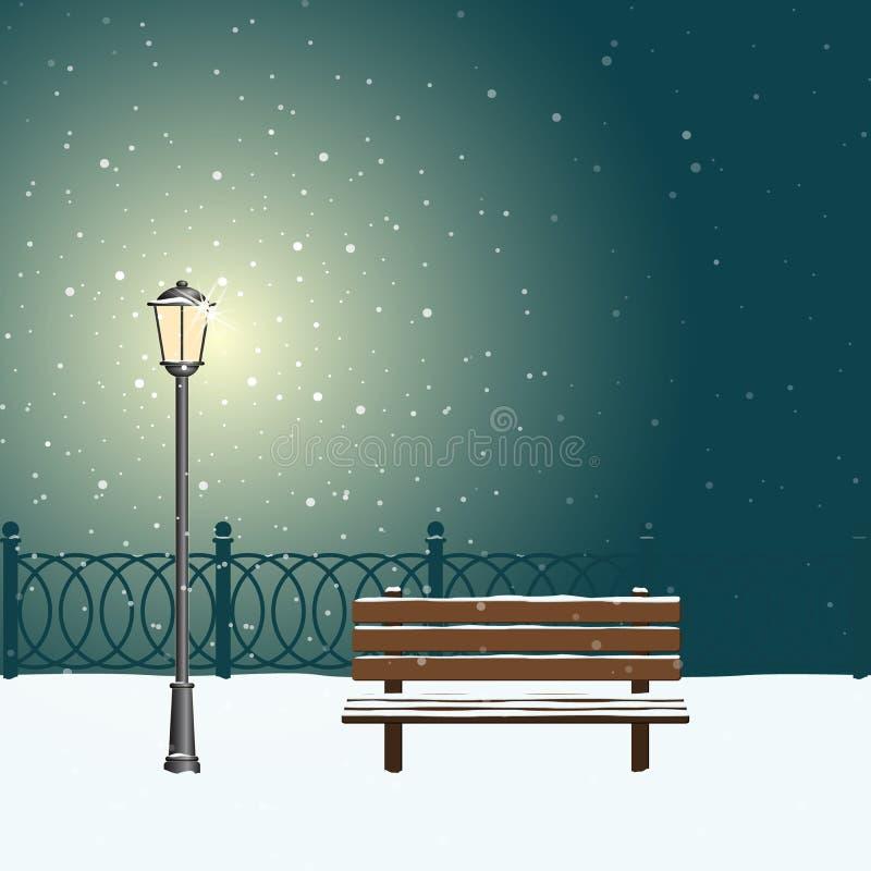 Street lamp light. vector illustration