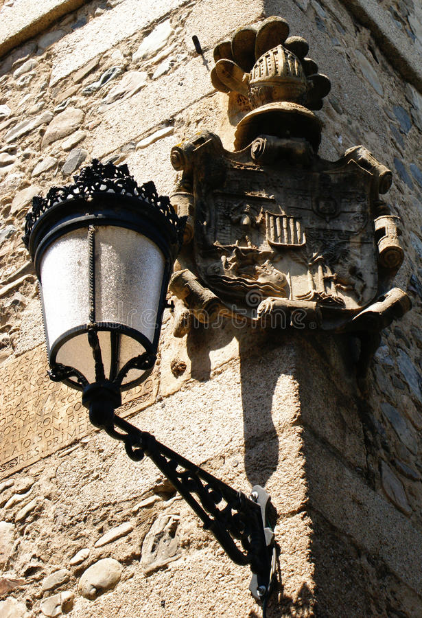 Download Street Lamp In Molinaseca Stock Photo - Image: 73611191