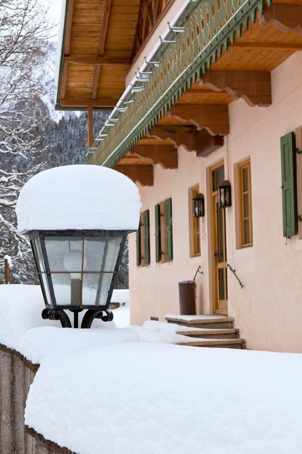 Street lamp near house in Bavaria