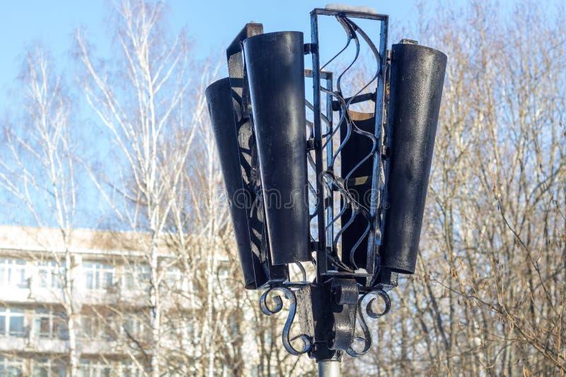 Street lamp in park. Closen stock photo