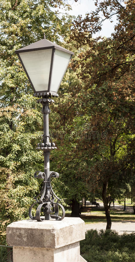Street lamp in a park royalty free stock images