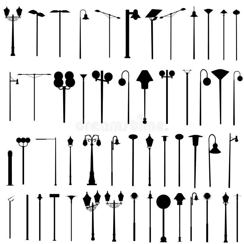 street lamps vector illustration