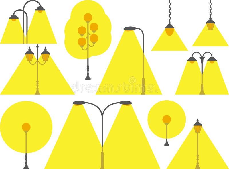 Download Street lamps stock vector. Illustration of globe, lamppost - 22543465