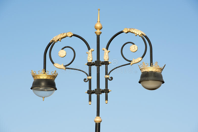Street lamps in Muscat, Oman royalty free stock images