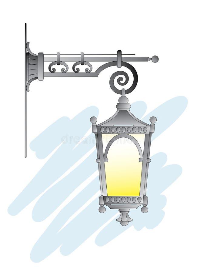 Street lantern stock illustration