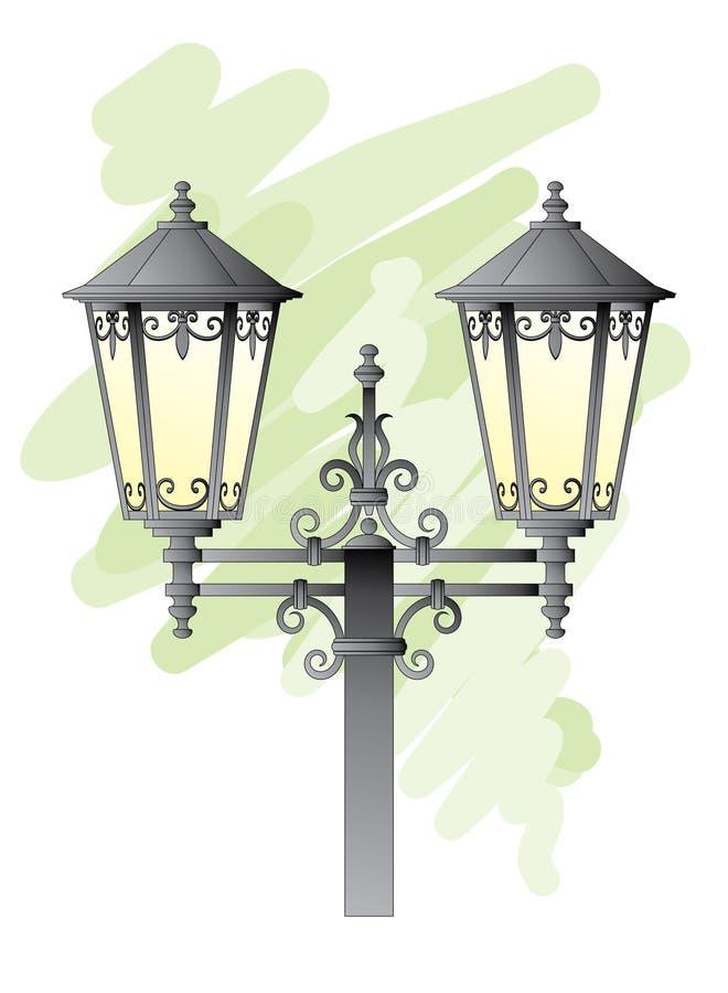 Street lantern royalty free illustration