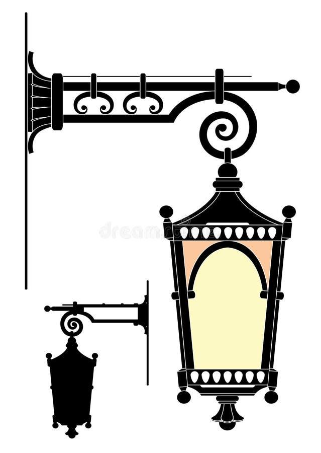 Street lantern vector illustration