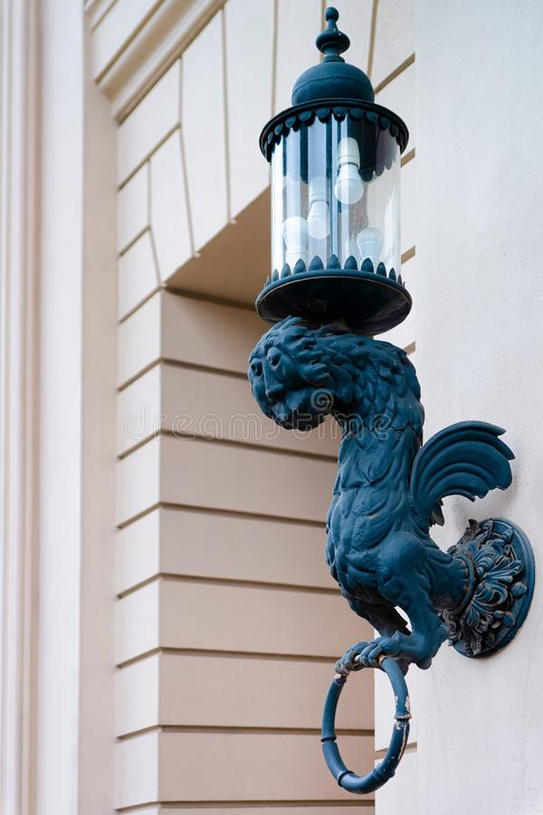 Street lantern at building of State Opera house Staatsoper Berlin stock photos