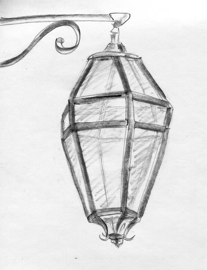 Download Street lantern - sketch stock illustration. Illustration of illustration - 17952325